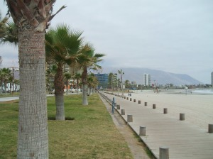 Iquique, as is most of Chile, is family centric. This beach front goes on for over a mile.