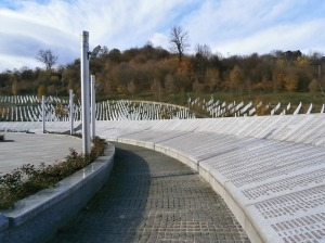 A commemorative wall where the names are placed of those who were murdered