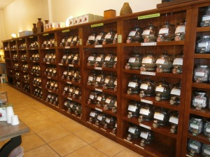They sell 220 different varieties of teas in this store.  © Photo by Florence Ricchiazzi Lince